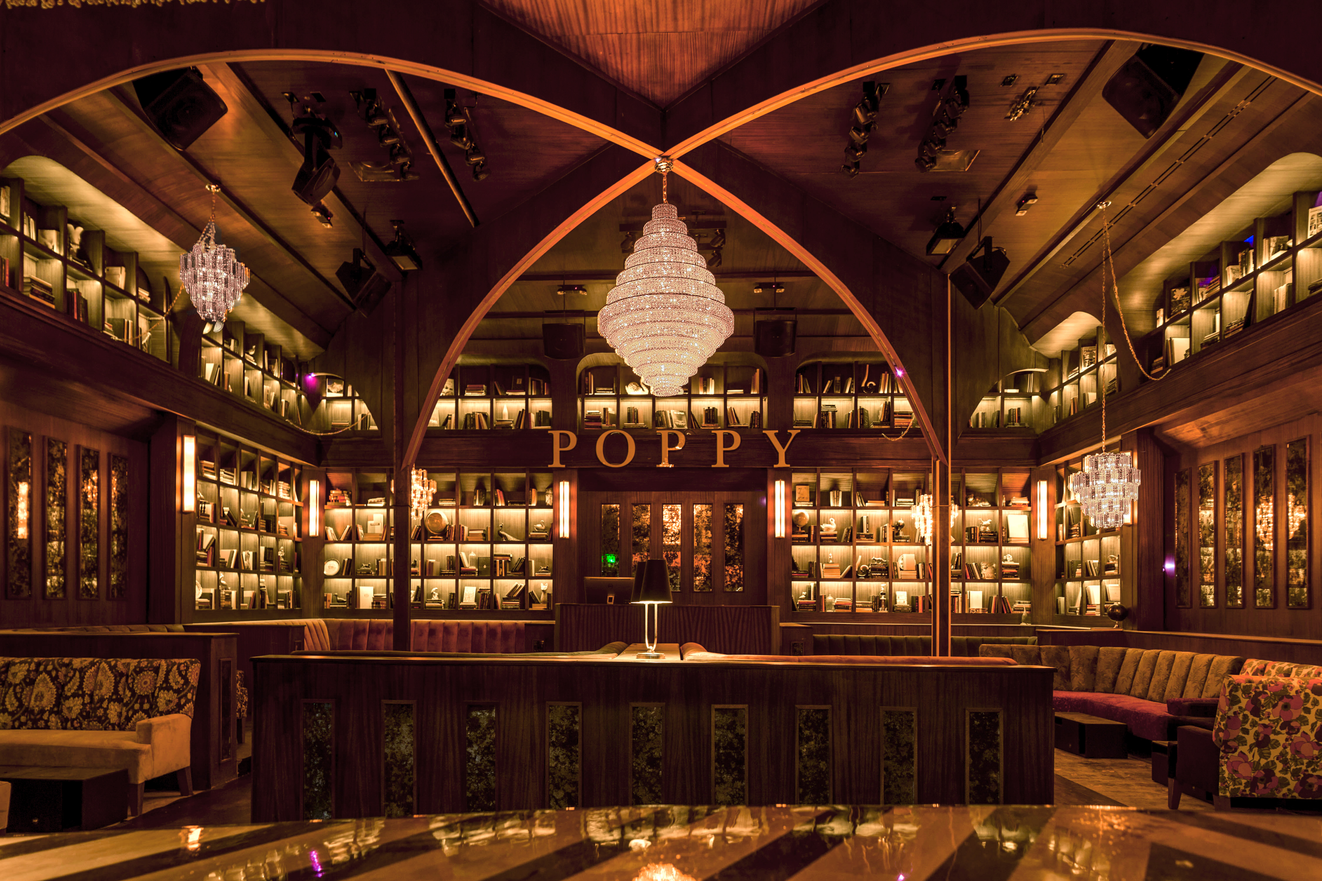 H wood group opens poppy hollywood s newest hotspot for Used lumber los angeles