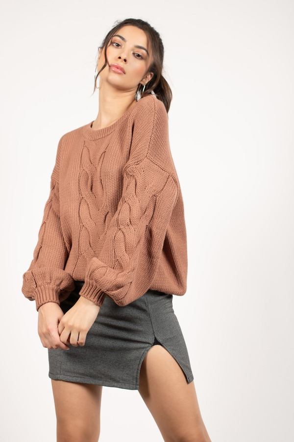 ALL THE FEELS SIENNA CABLE KNIT SWEATER